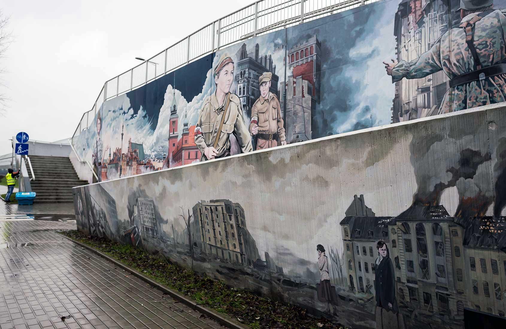 Mural Powstanie Warszawskie renowacja murali IDEAMO