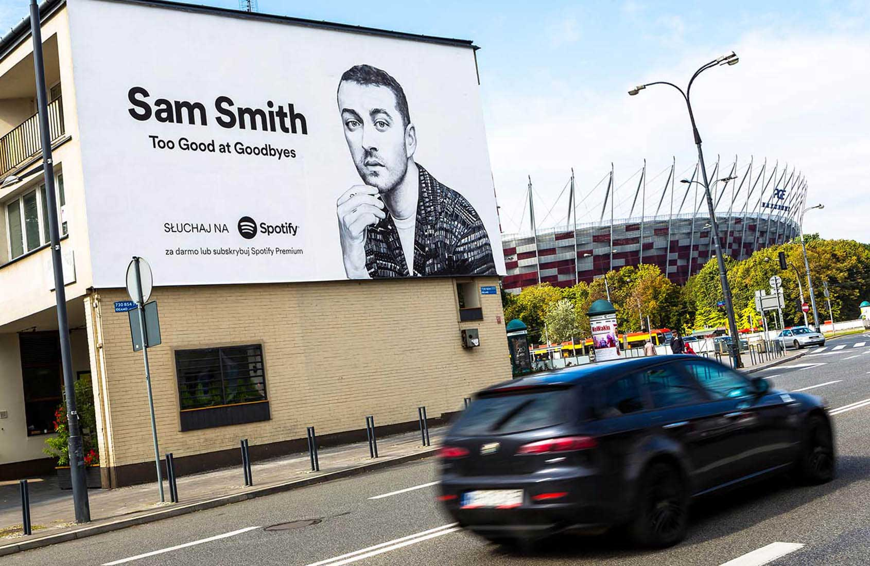 SAM SMITH 03 Spotify IDEAMO Francuska PGE Narodowy Mural