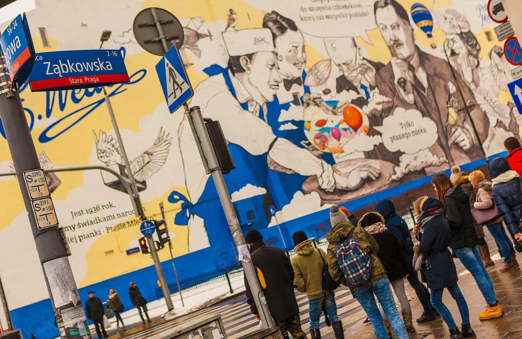 Wedel Zabkowska mural hybrydowy