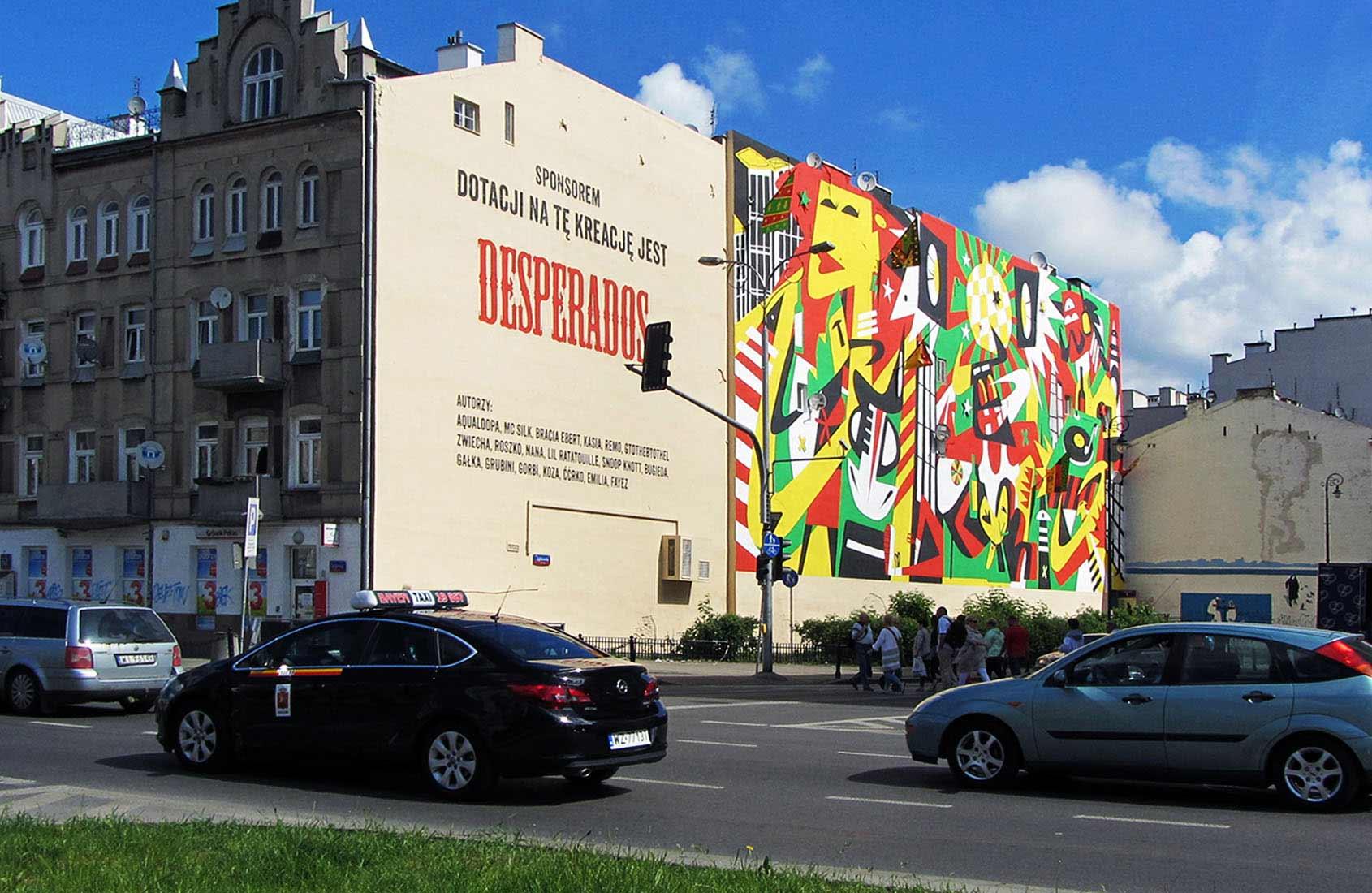 AQUALOOPA DESPERADOS IDEAMO mural Ząbkowska Warszawa malowanie
