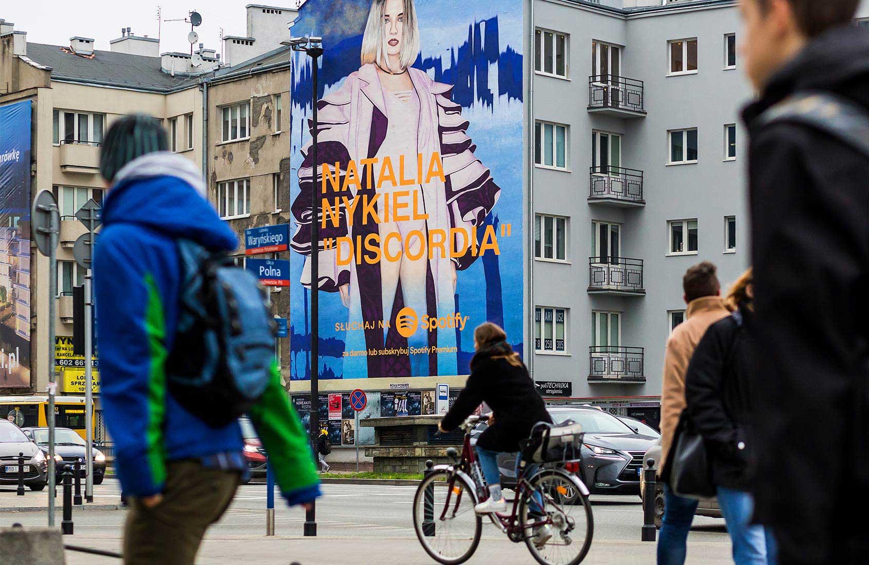 Mural Natalia Nykiel DISCORDIA IDEAMO