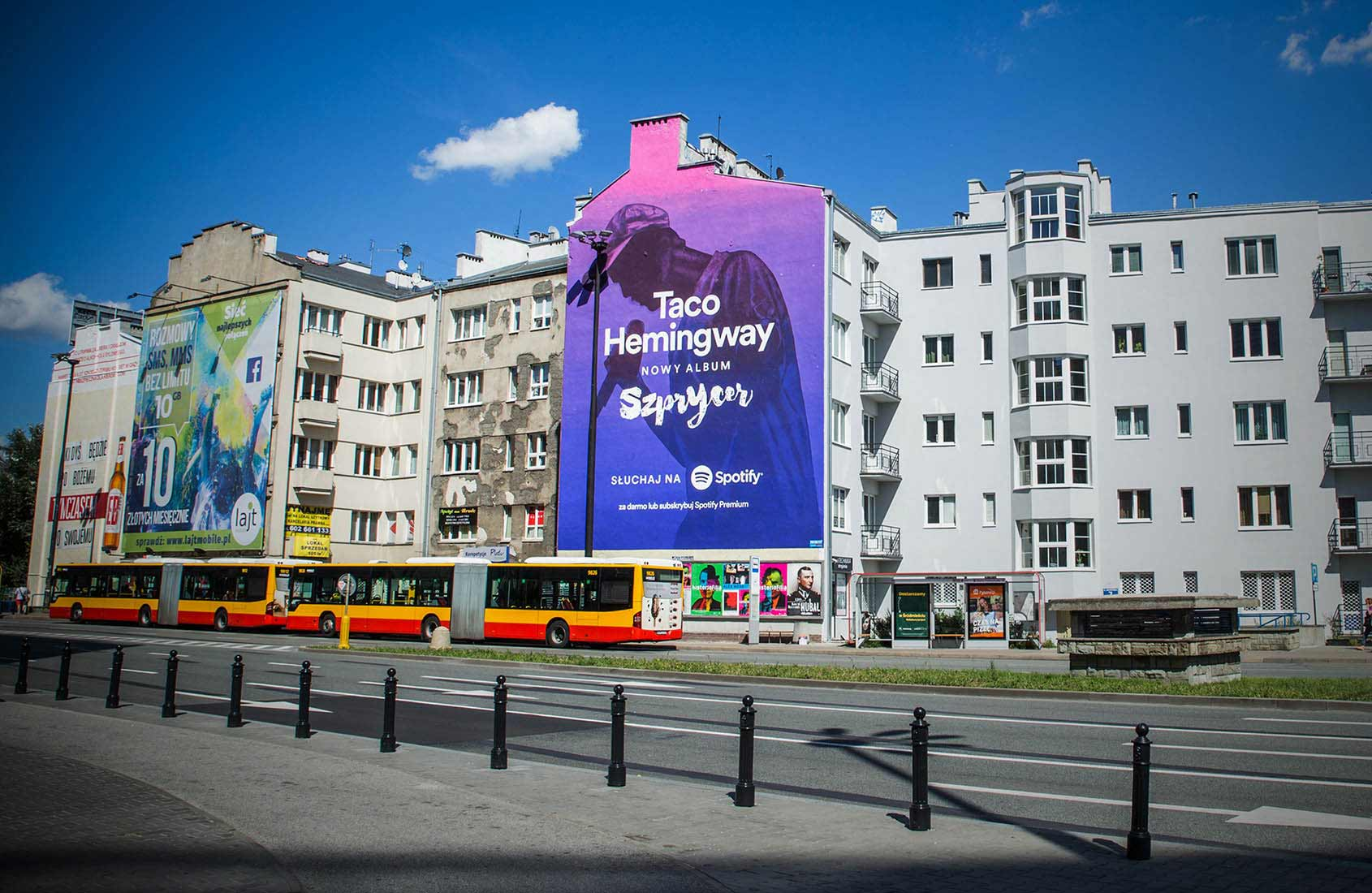Spotify-Taco-Hemingway-Metro-Politechnika-Mural