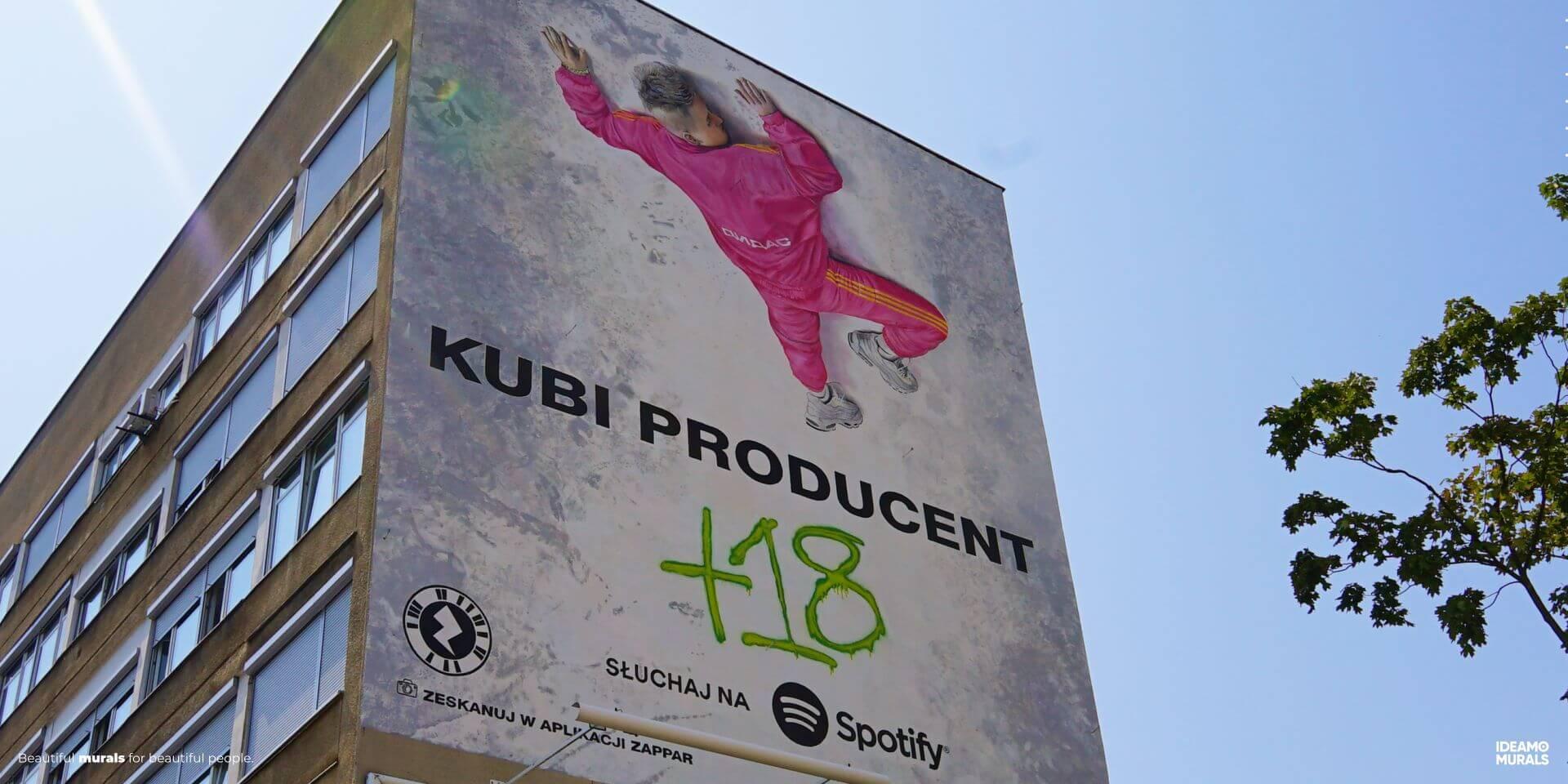 IDEAMO MURALS 036 Spotify Kubi Warszawa