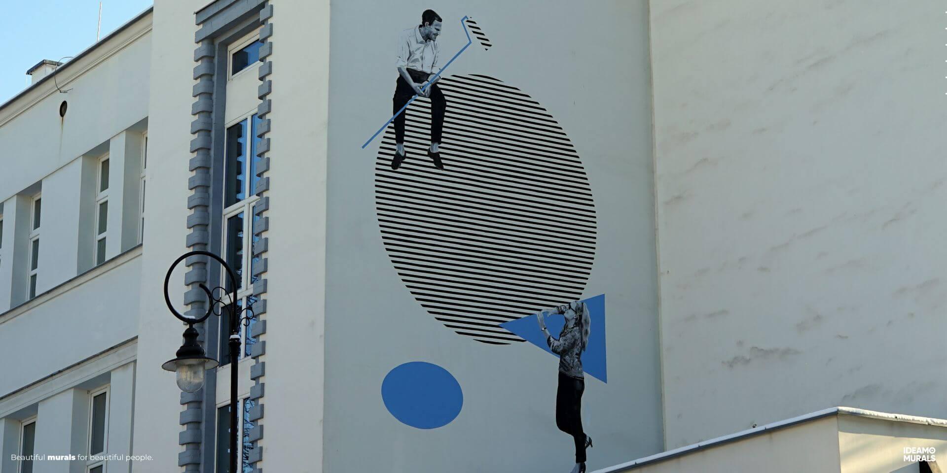 IDEAMO MURALS Teatr Ochoty zbliżenie